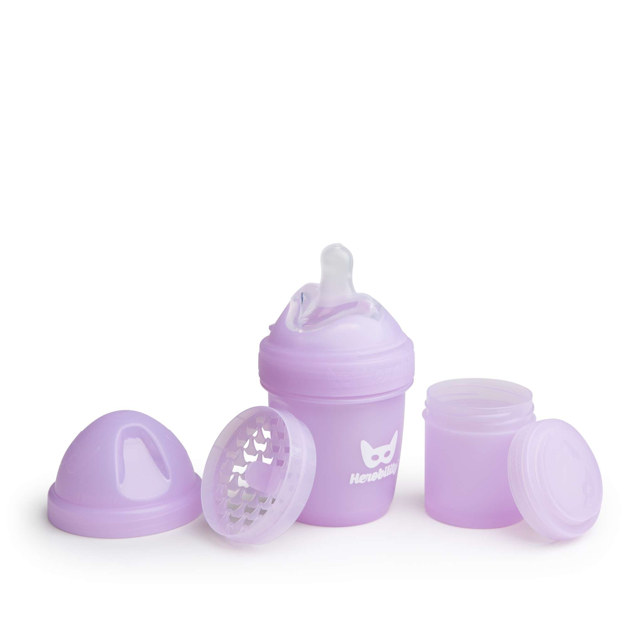 Herobility - Anti-Colic HeroBottle 140 ml, purple