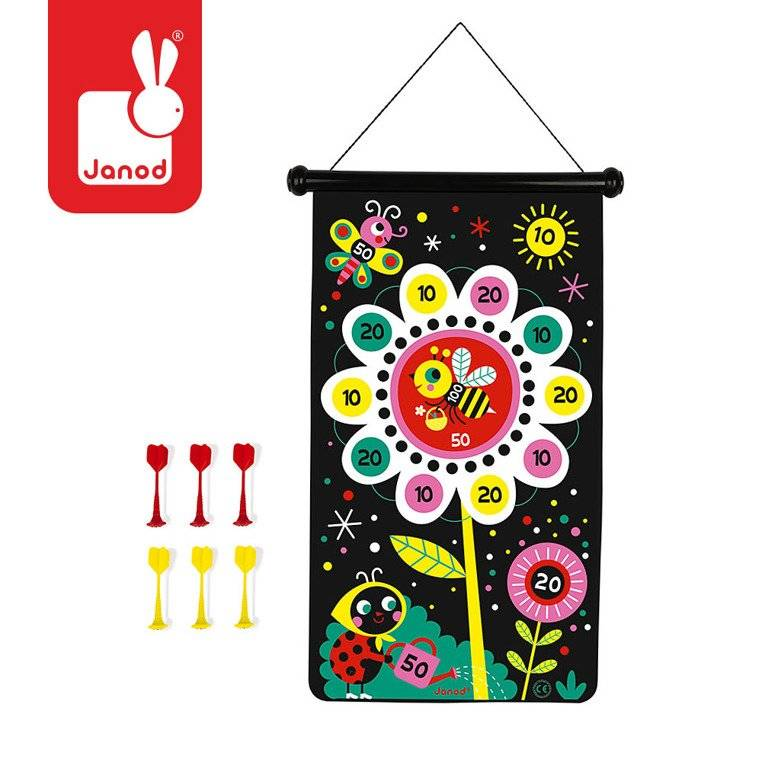 Janod - MAGNETIC DART GAME – GARDEN