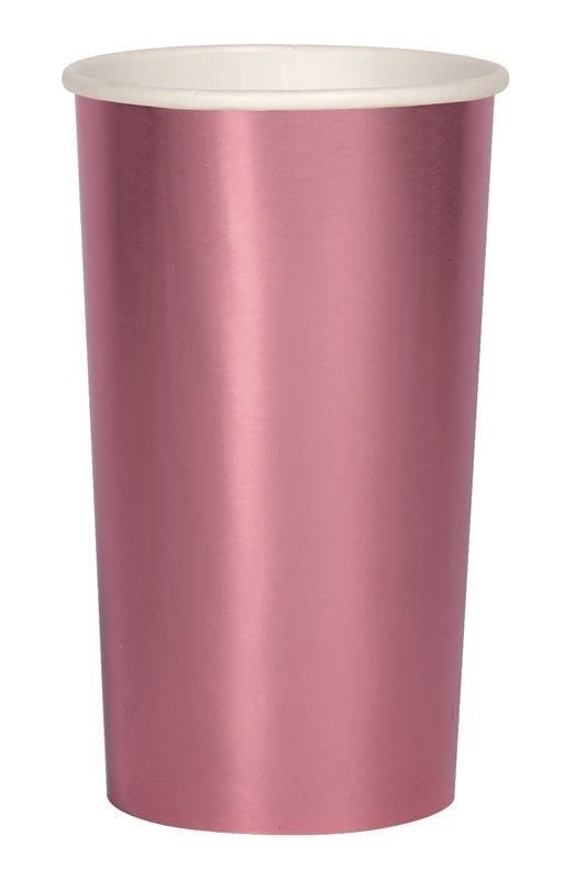 Large Pink Foil Highball Cup
