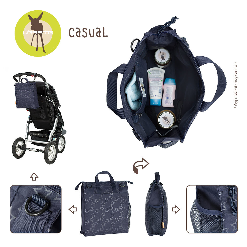 Lassig - Casual Label Reflective Star blue Diaper bag