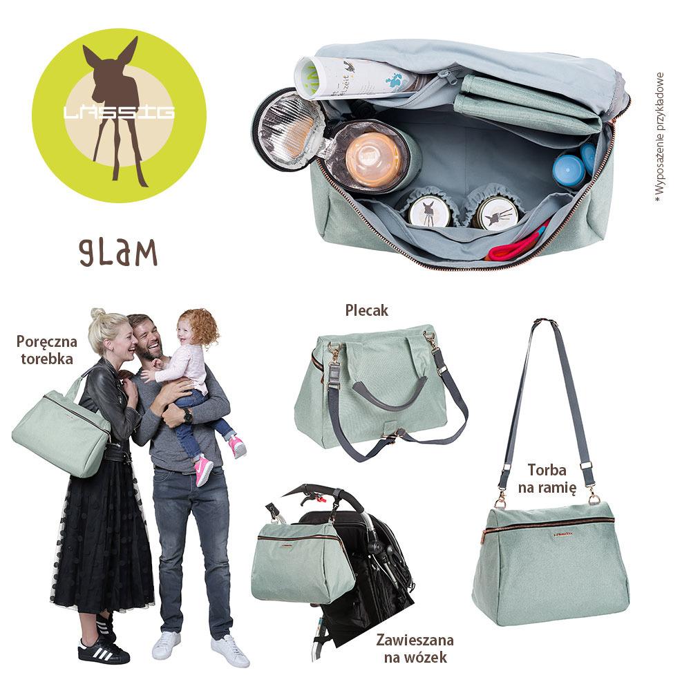 Lassig Glam Label Rosie Diaper Bag Mint