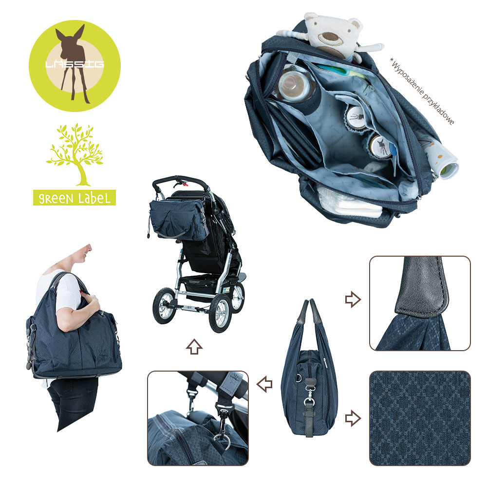 b017ebfeb5 Lassig - Green Label Neckline Denim blue Diaper bag , | Scandinavian ...