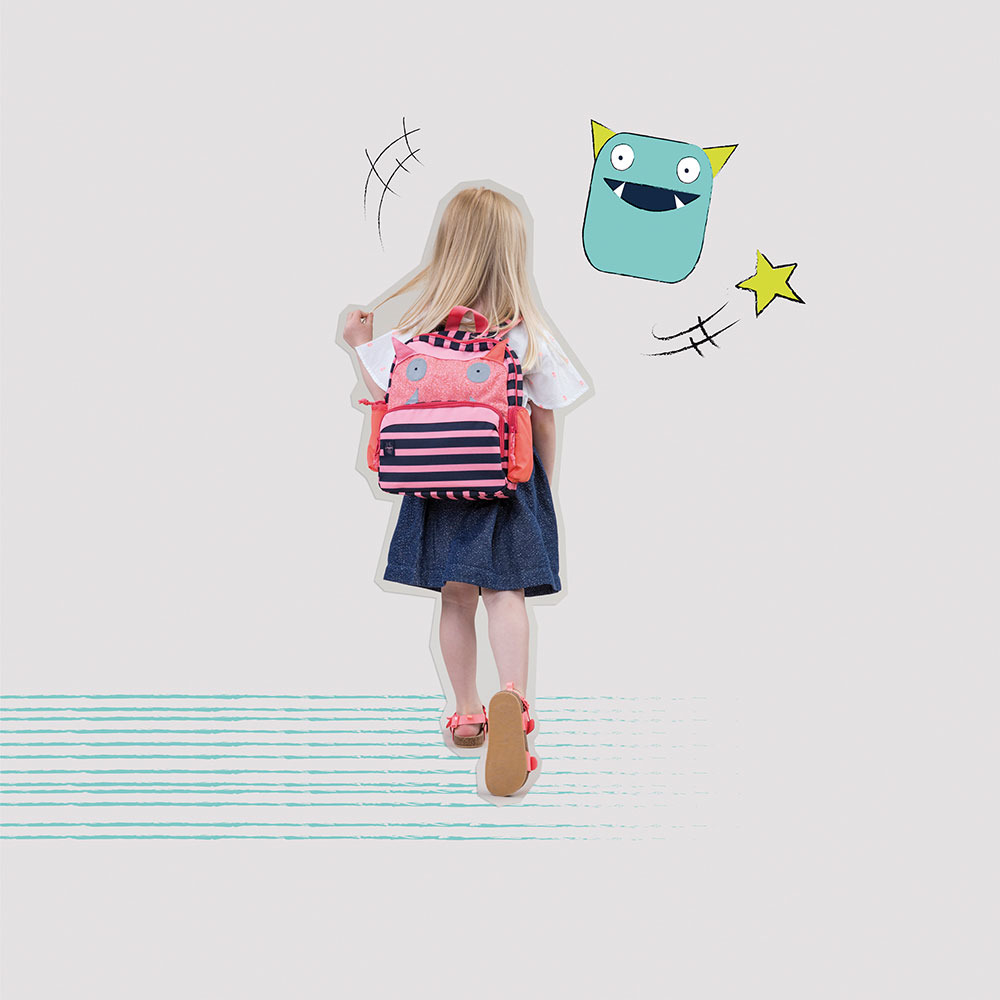 31583bcf684 Lassig - Mini Backpack, Little Monsters,   Scandinavian Baby