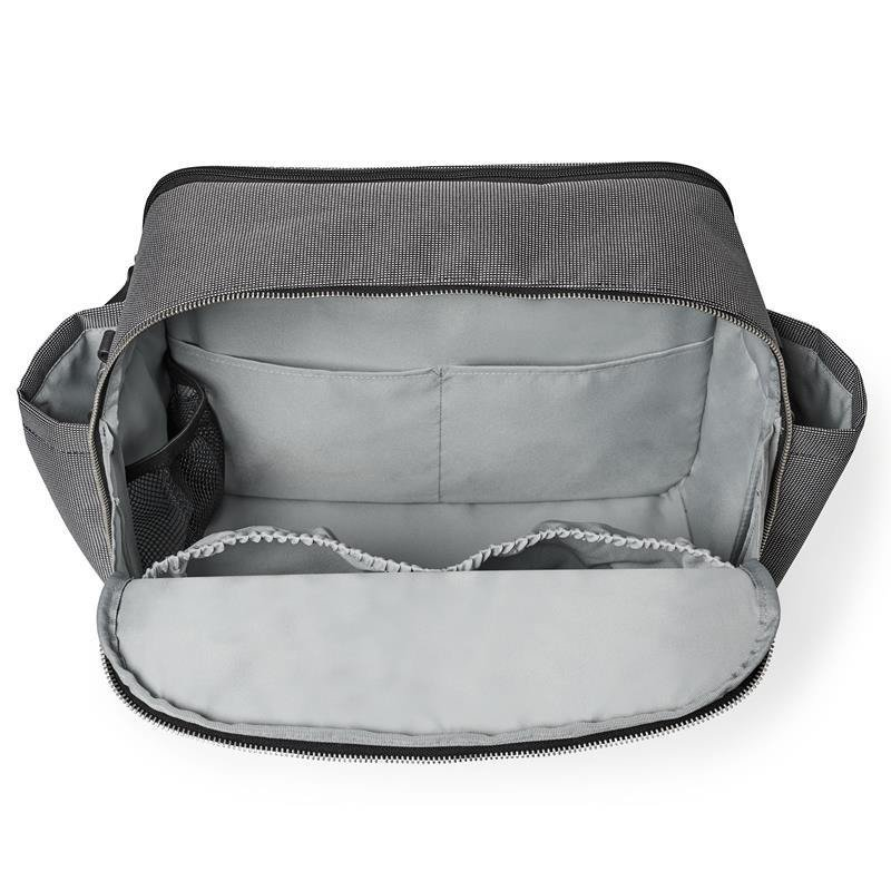 Madison Square Diaper Tote- Black/White Mini Grid