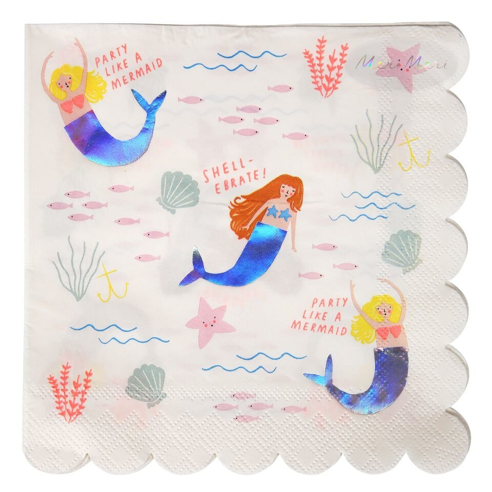 Meri Meri – Lets Be Mermaids Large Napkin