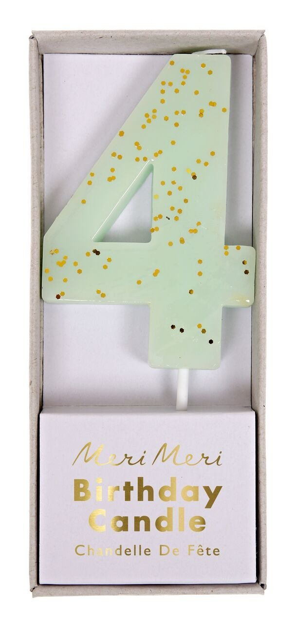 Meri Meri – Mint Number 4 Candle