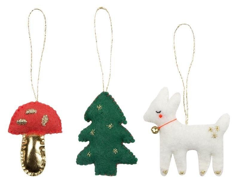 Mini Woodland Fabric Decorations