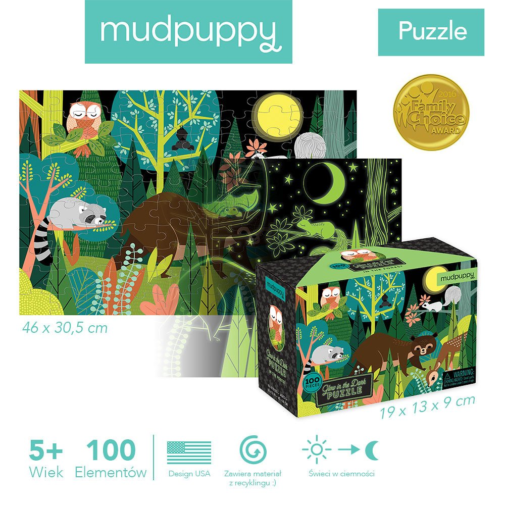 Mudmuppy - In The Forest Glow In The Dark Puzzle