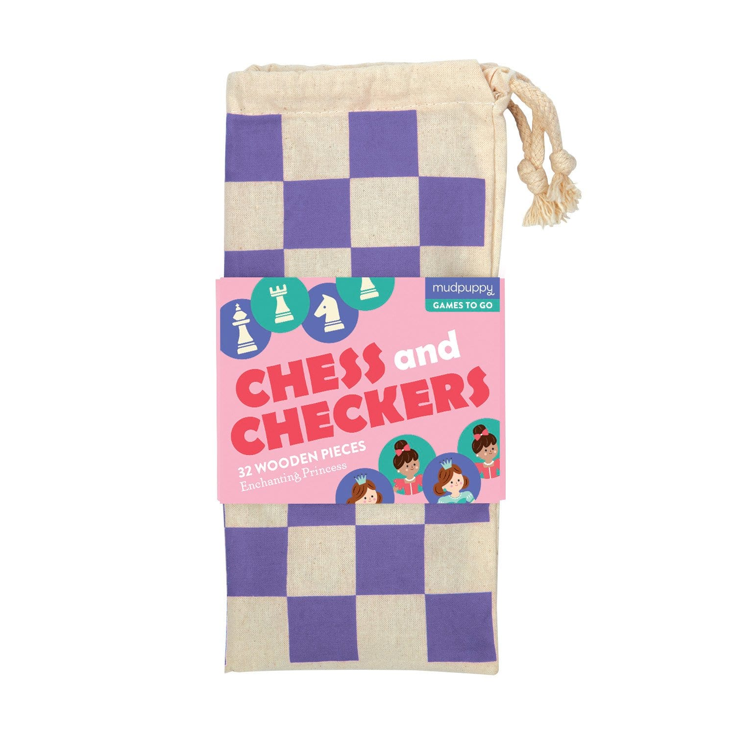 Mudpuppy - Enchanting Princess Chess & Checkers