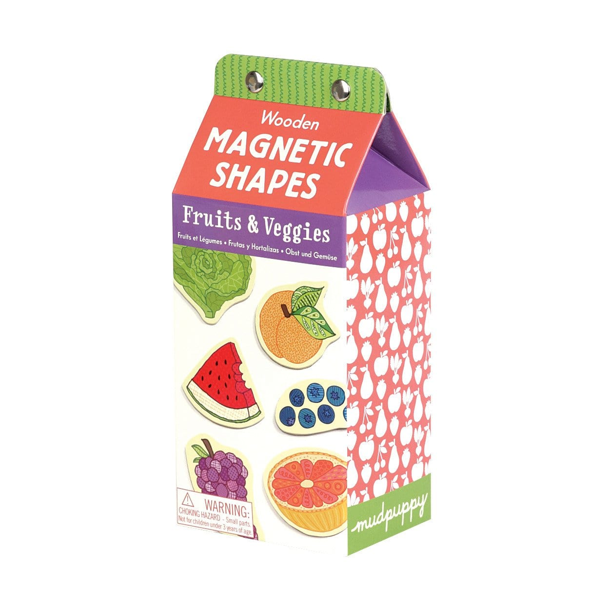 Mudpuppy - Fruits & Veggies Wooden Magnetic Set