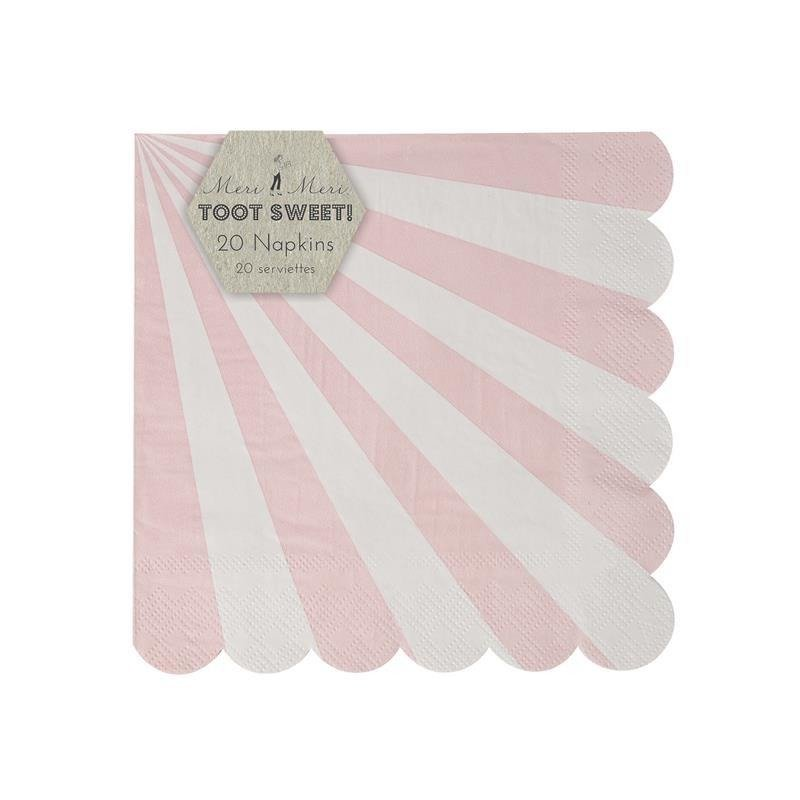 Pink Striped Small Napkins