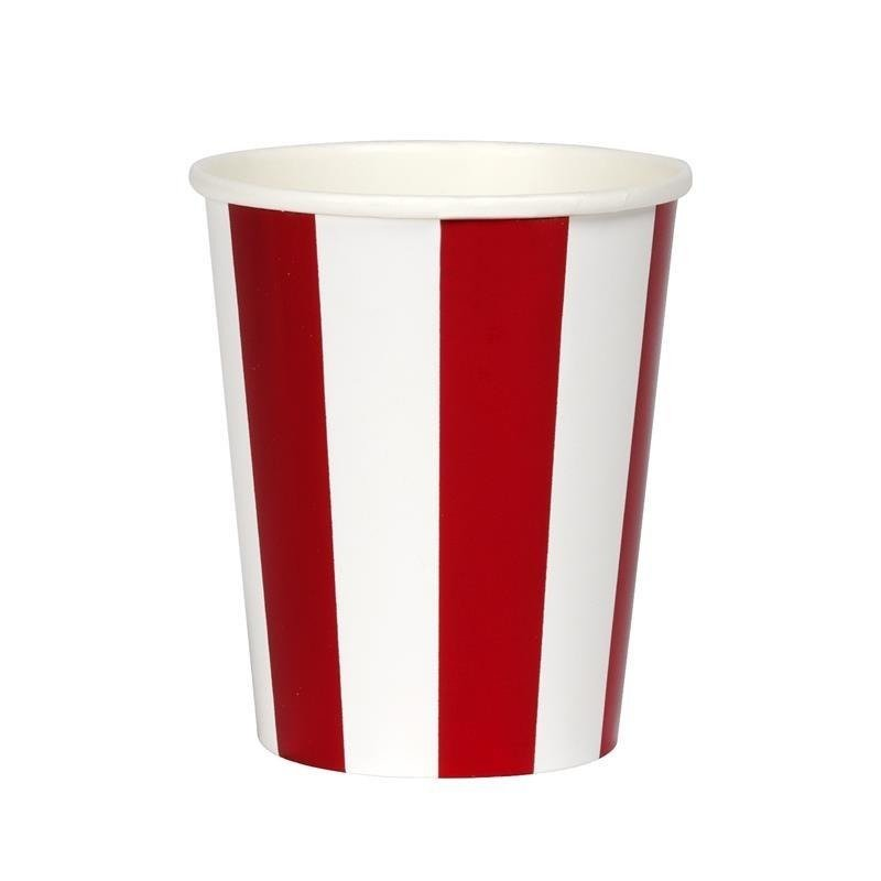 Red Stripe Foil Cup