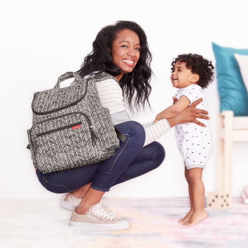 Skip Hop - Forma backpack diaper bag black - Grey Feather