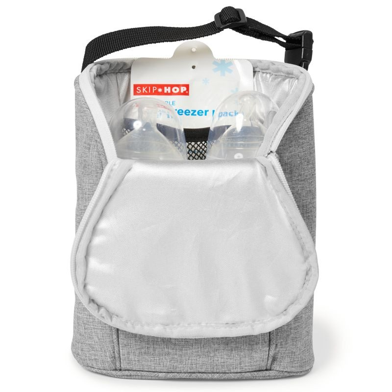 Skip Hop - Grab & Go Double Bottle Bag - Grey Melange