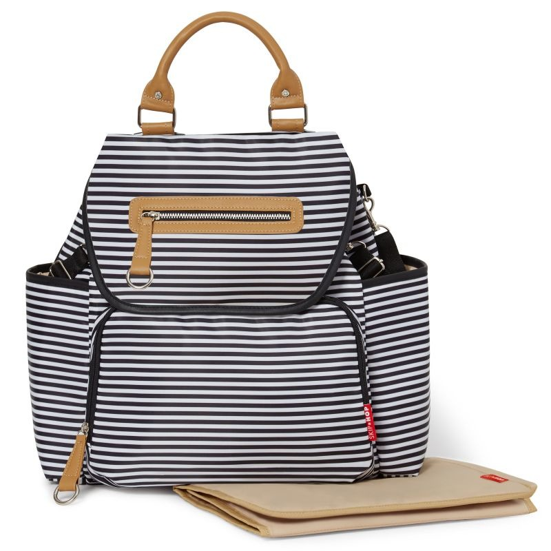 Skip Hop - Grand Central Black Stripe Backpack
