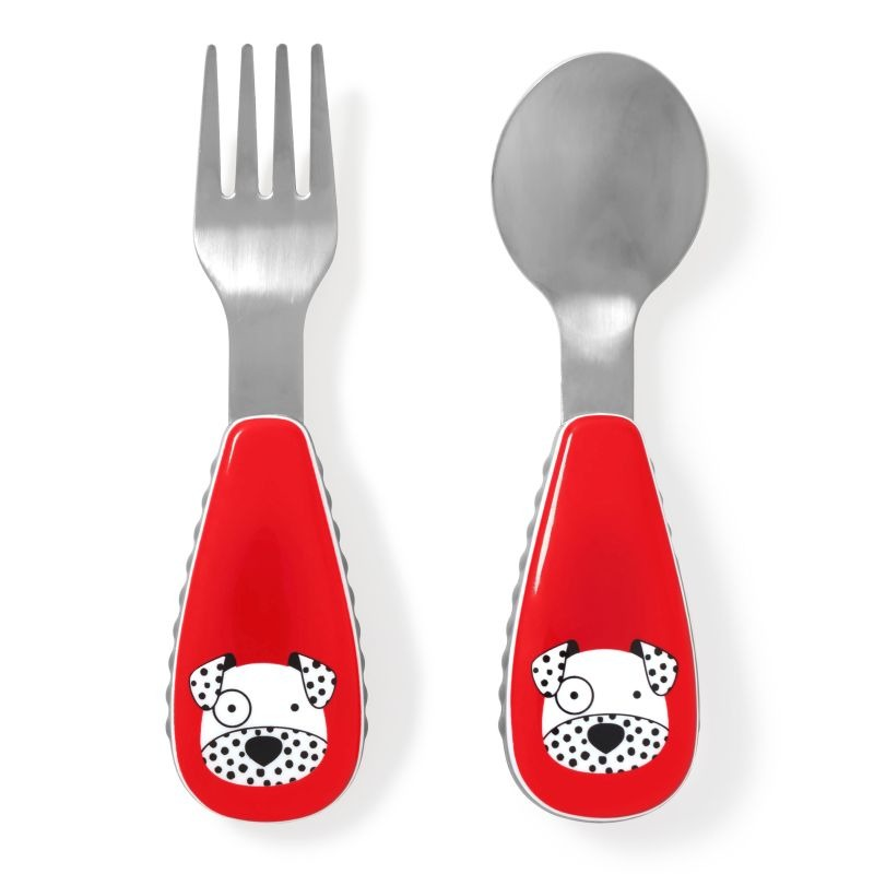Skip Hop - Little kid fork & spoon Dalmation