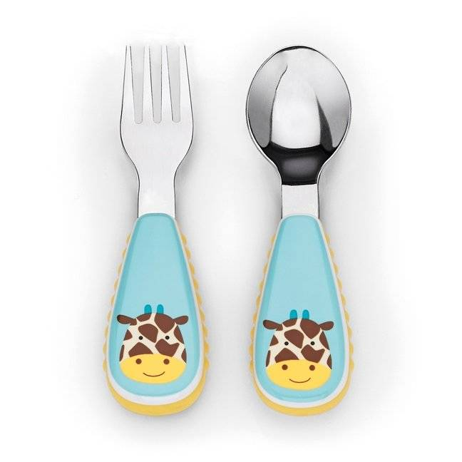 Skip Hop - Little kid fork & spoon Giraffe