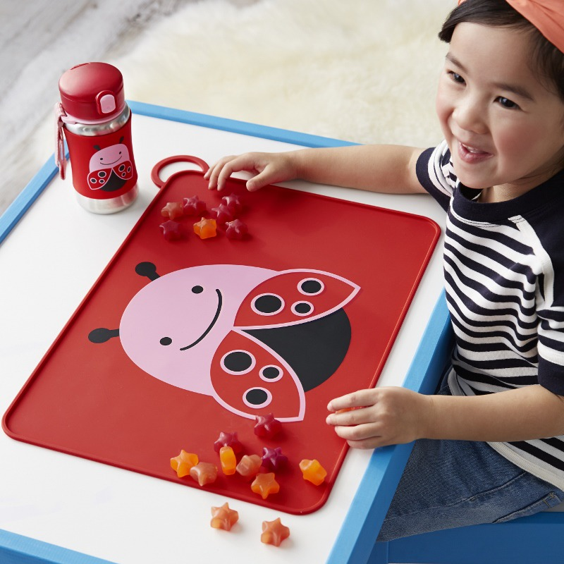 Skip Hop - ZOO FOLD & GO little kid silicone placemats