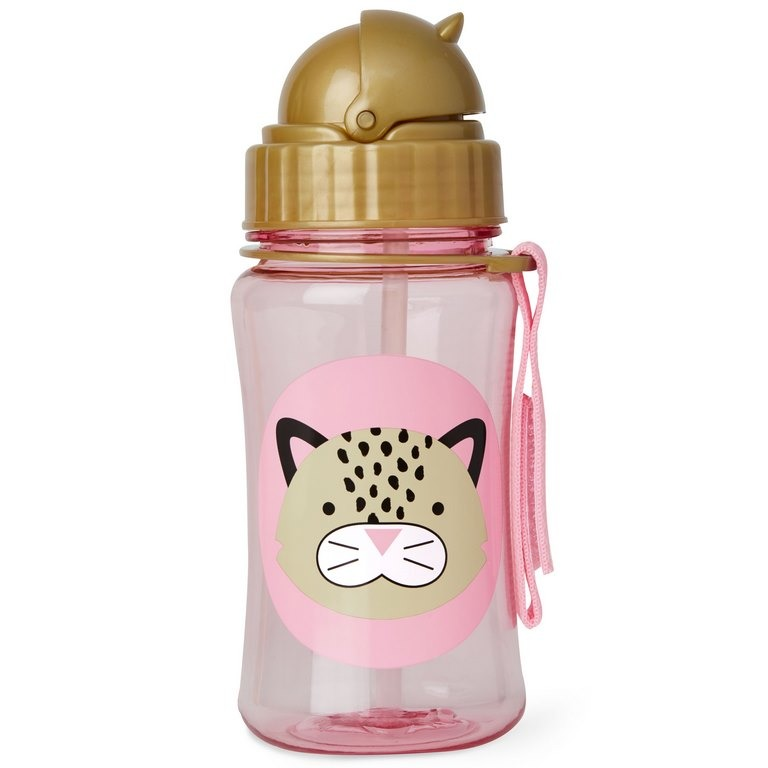 Skip Hop - ZOO stainless steel kid straw bottle Leopard