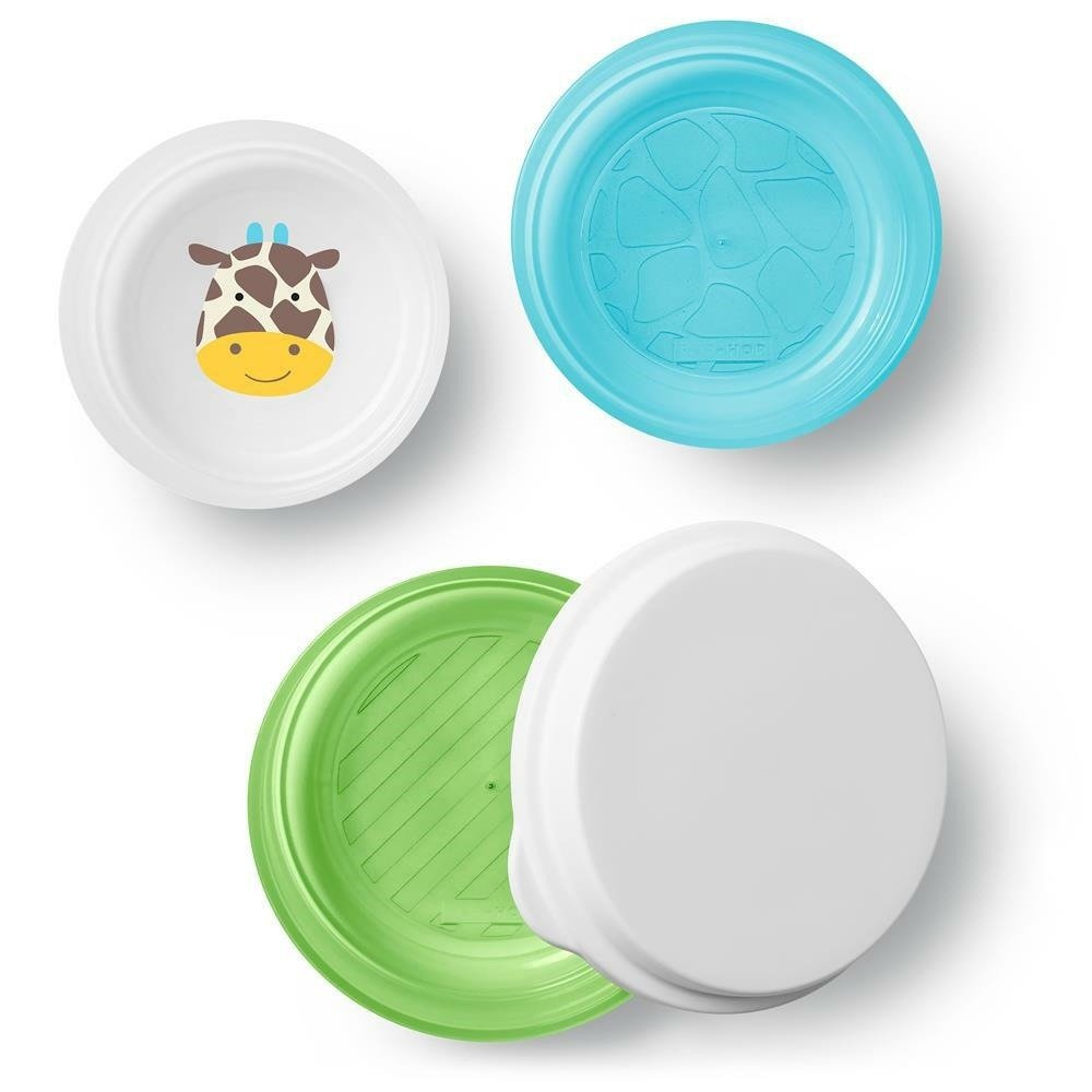 Skip Hop - Zoo Smart Serve Non-Slip Bowls- Giraffe