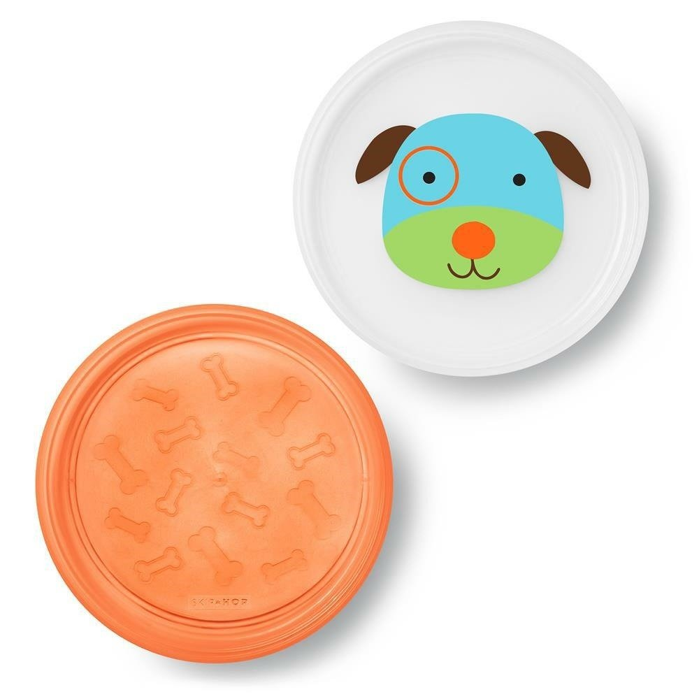 Skip Hop - Zoo Smart Serve Non-Slip Plates- Dog