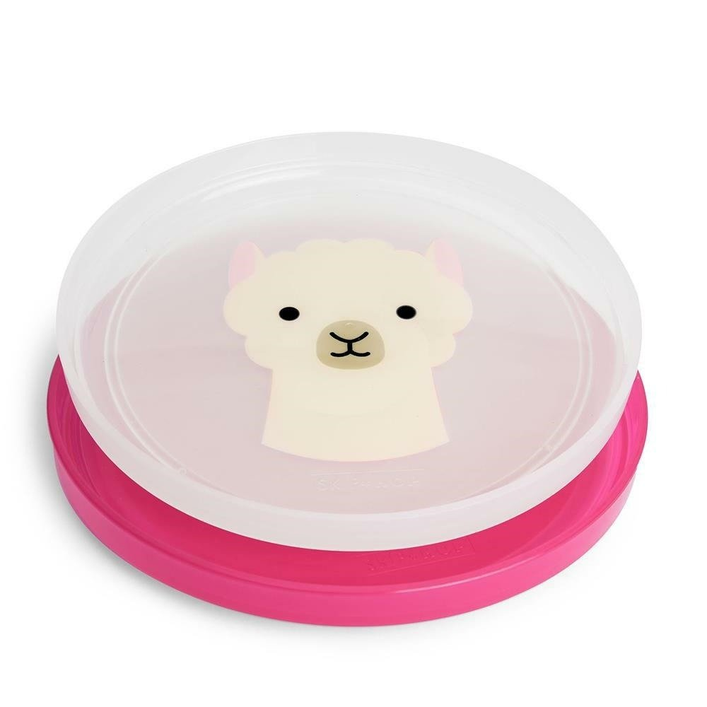 Skip Hop - Zoo Smart Serve Non Slip Plates- Llama