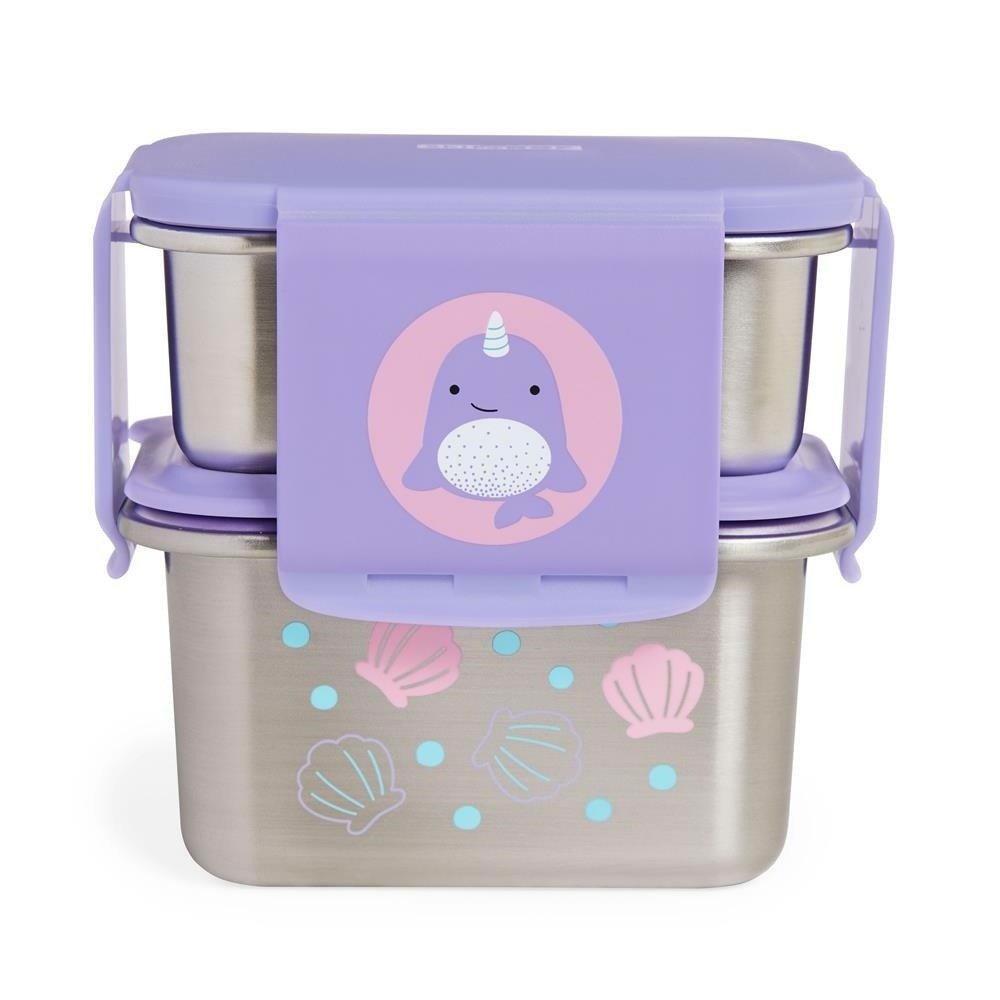 Skip Hop - Zoo Stainless Steel Lunch Kit - Narwhal