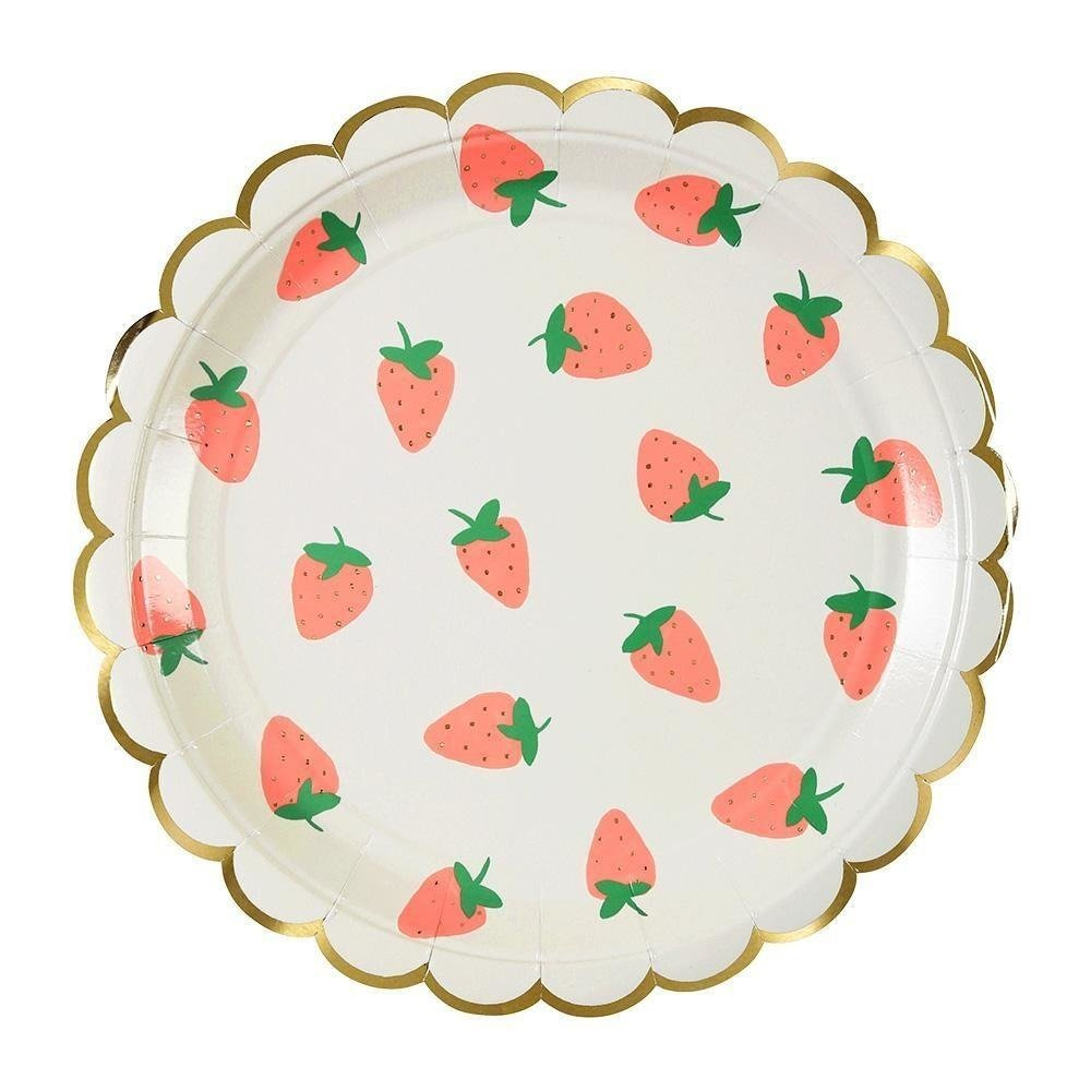 Strawberry Plate Lg S/8