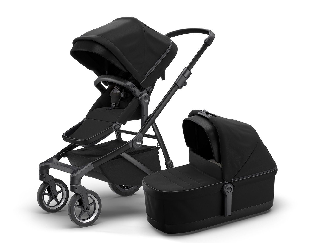 Thule Sleek + Bassinet + Main Seat - Midnight Black