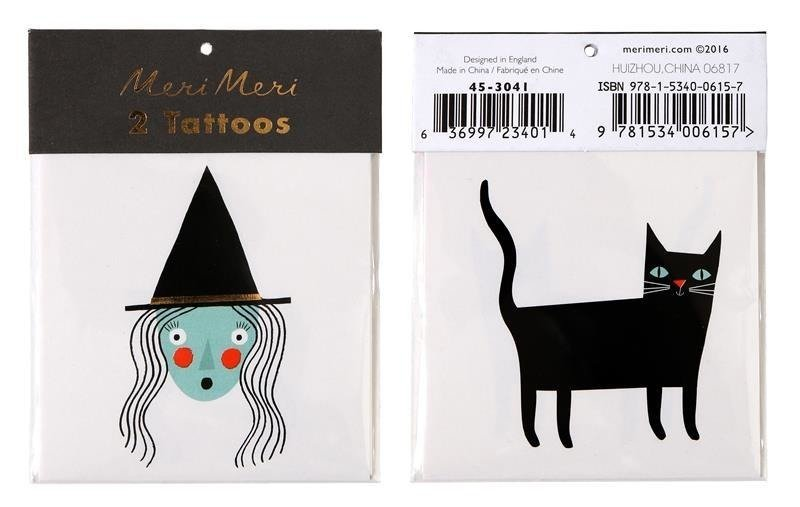 Witch & Cat Tattoos