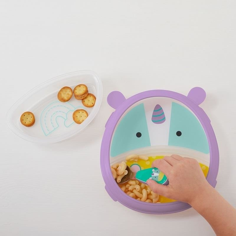 Zoo Eat Neat Plate and Bowl- Unicorn
