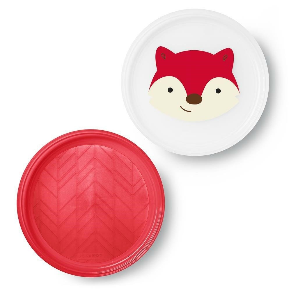 Zoo Smart Serve Non-Slip Plates- Fox