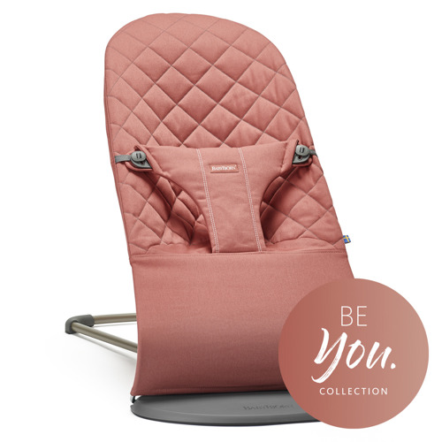 BABYBJÖRN - Bouncer BLISS COTTON, Terracotta Pink
